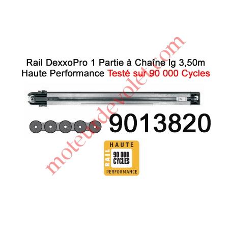 Rail Monobloc à Chaîne Haute Performance 90 000 Cycles lg 3,50m pour Dexxo Pro