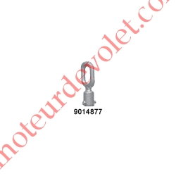Anneau Femelle ø 10,5 mm Percé ø 4 à 5,5 mm de l'extrémité en Zamac Avec Visserie