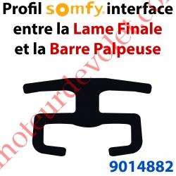 Rail Plastique Noir Interface Lame Finale & Barre Palpeuse Résistive 16x27,3 mm Barre de 3 mètres