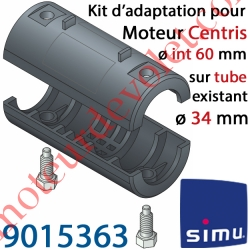 Kit d'Adaptation pour Moteur Central Simu Centris ø 60 mm au Tube ø 34 mm