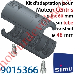 Kit d'Adaptation pour Moteur Central Simu Centris ø 60 mm au Tube ø 48 mm