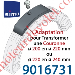 Kit d'Adaptation pour Augmenter de 20 mm le ø de la Couronne d'un Moteur Central Simu Centris