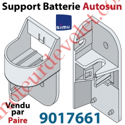 Support pour Fixation de la Batterie AutoSun 1 ou 2 Avec Coque en Aluminium (Paire)