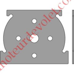 Plaque Interface pour utiliser les Supports Universels dans les Coffres Titan Bubendorff Couple Maxi 50 Nm