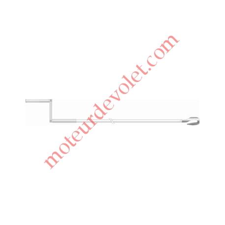 Manivelle avec crochet, de lg 1250 mm