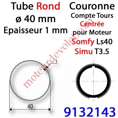 Couronne pour Moteur LS 40 ou T 3.5 dans Tube Rond ø 40 x 1