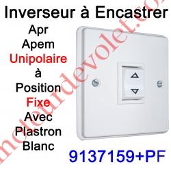 Inverseur Apr-Apem Unipolaire à Position Fixe avec Plaque pour Encastrer