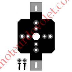 Support Métallique Oméga Multi entr'axes Moteur LT 50 Epais 11 mm Cpl Max 30 Nm