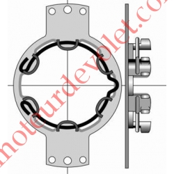 Support Métallique entr'axes 100 mm ø 5,2 Moteur LT 50 Couple Maxi 50 Nm