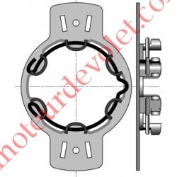 Support Métallique entr'axes 90 mm ø 4,2 Moteur LT 50 Couple Maxi 50 Nm