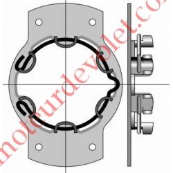 Support Métallique entr'axes 84 mm ø 4,2 Moteur LT 50 Couple Maxi 50 Nm