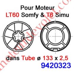 Jeu d'Adaptation pour Moteur LT 60, Tube ø 133 x 2,5 mm