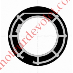 Couronne pour Moteur LT 60 ou T6 dans Tube Mischler ø 100 ou Tube ø 102 x 2
