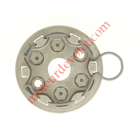 Support Moteur Somfy LT à Tête Etoile pour Volet Roulant Avec Anneau à Boucle en Inox 2 Trous diamètre 6,5 mm entr'axes 44 mm