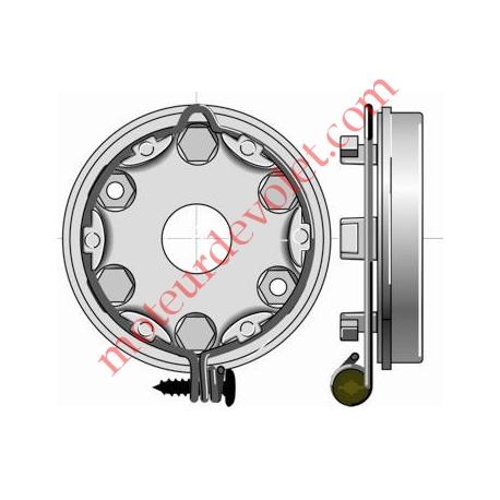 Support Moteur LT50/LT60 Supérieur à 85 Nm entr'axe M6 44 mm