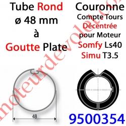 Couronne pour Moteur LS 40 ou T 3.5 dans Tube ø 48 à Goutte Plate Couple limité à 9 Nm