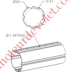 Tube Zf80 en 12/10 Galva, le mètre