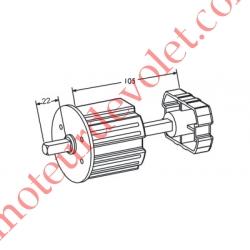 Tandem Zf64 Axe Carré de 10 mm Mâle longueur 22 mm