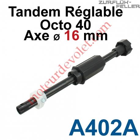 Tandem Octo 40 Axe ø 16 mm Mâle Réglable de 38 à 138 mm