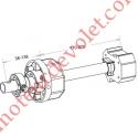Tandem Octo 60 Axe Longueur 320 mm ø 16 mm Mâle Réglable de 38 à 138 mm
