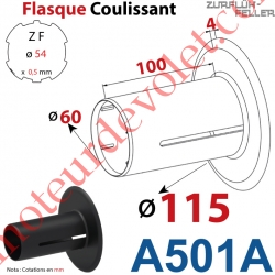 Flasque Coulissant ø 115 mm pour Tube Zf 54