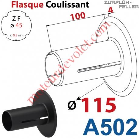 Flasque Coulissant ø 115 mm pour Tube Zf 45