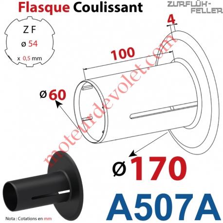 Flasque Coulissant ø 170 mm pour Tube Zf 54
