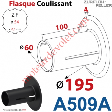 Flasque Coulissant ø 195 mm pour Tube Zf 54