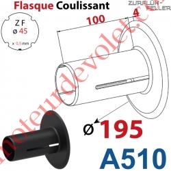Flasque Coulissant ø 195 mm pour Tube Zf 45