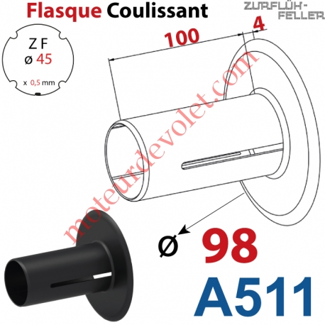 Flasque Coulissant ø 98 mm pour Tube Zf 45