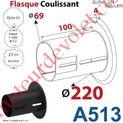 Flasque Coulissant ø 220 mm pour Tubes Zf 64, Deprat 62 & Octo 60