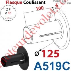 Flasque Coulissant ø 125 mm pour Tube Zf 45