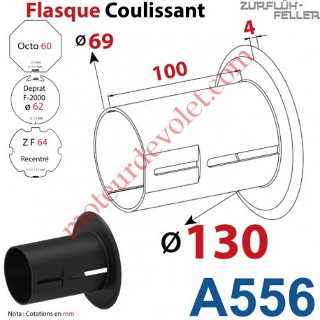 Flasque Coulissant ø 130 mm pour Tubes Zf 64, Deprat 62 & Octo 60