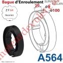 Bague Nylon Largeur 20 mm avec 2 Trous ø 9 pour tube ZF 64 ø Ext 100 mm
