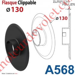 Flasque Clippable ø 130 mm