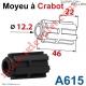 Moyeu à Crabot Mâle Zf - Crabot Mâle Zf Alésé ø 12,2 mm Femelle