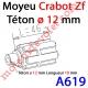 Moyeu à Crabot Mâle Zf - Crabot Mâle Zf Téton ø 12 mm Mâle Lg 10 mm