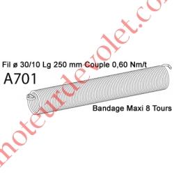 Ressort Type X Fil 30/10 x 250 mm
