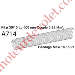 Ressort Type X Fil 30/10 x 500 mm