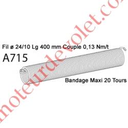 Ressort Type X Fil 24/10 x 400 mm