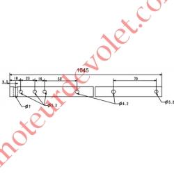 Axe de Compensateur en Tube ø 16x1.5 Lg 1045 mm