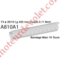 Ressort Type X Fil 26/10 x 425 mm