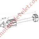 Tandem Zf 54 Axe ø 16 mm Mâle Réglable de 38 à 138 mm