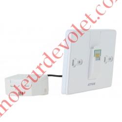 Support Mural à Encastrer et Module d'Alimentation pour Thermostat Evohome Wifi à Ecran Tactile