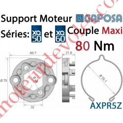 Support Moteur Axial XQ50 et XQ60 Fixation entr'axes 48 mm Avec Anneau d'Arrêt