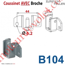 Coussinet à Broche Entr'axe 44 mm