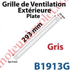Grille de Ventilation Extérieure 30 m³/h Plate Nicoll 293 x 24 x 4 Coloris Gris Clair