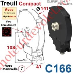 Treuil  Conipact Entrée Hexa 7 Femelle Sortie Crabot Zf Mâle Avec FdC Réglé à Gauche Sans Vis