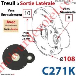 Treuil à Sortie Latérale Ent Carré 8 Fem Sort Carré 10 Fem Plots 2,5 mm Av FdC Ga