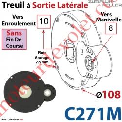 Treuil à Sortie Latérale Ent Carré 8 Fem Sort Carré 10 Fem Plots 2,5 mm Ss FdC1